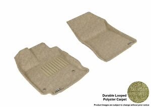 For 2013-2015 Toyota Venza Tan Carpet Front All Weather Floor Mat Set