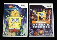 Nintendo Wii Spongebob Attack of the Toybots &  Atlantis SquarePantis