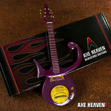 NEW Axe Heaven PR-285 Prince Nelson Rogers Purple Miniature Guitar & Stand nr