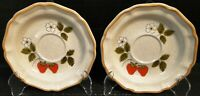 Mikasa Strawberry Festival Saucers EB 801 Set of 2 Excellent
