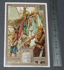 CHROMO LIEBIG OXO 1910 L'EPOPEE DES NIBELUNGEN N°2 SIEGFRIED CHRIEMHILD GUNTHER