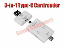 New USB 3.1 Type-C 3in1 OTG Dongle TF SD MS Card Reader For Apple Macbook Pro AU