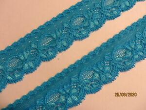 3m türkise hochwertige elastische Spitze 3,5cm breit