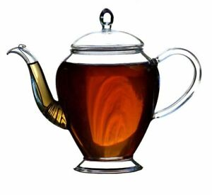450ml Clear Glass Teapot With Hidden Infuser Heat Resistant Glass Coffee Teapot