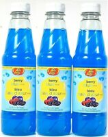 (3 Pack) Jelly Belly Berry Blue Syrup For Ice Treats Gluten Free 16Fl Oz BB 4/22