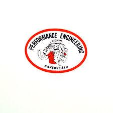 PERFORMANCE ENGINEERING DRAG RACE HOT RAT ROD DECAL VINTAGE LOOK STICKER