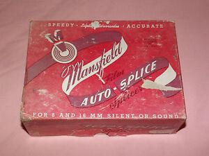 VINTAGE 1950-60S MOVIES MANSFIELD FILM AUTO SPLICE 8MM & 16MM SILENT OR SOUND