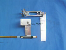 """Rudder, strut & 1/4"""" flex cable shaft combo for 23-35cc gas or nitro rc boat"""