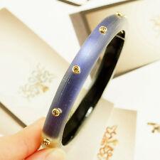 New Alexis Bittar Lucite Neo Bohemian Hinged Bracelet $125 Ultra Marine