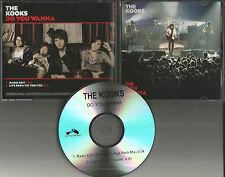 THE KOOKS Do you wanna w/ RARE MIX & LIVE TRK PROMO DJ CD single USA 2008 MINT