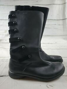 Merrell Polartec Leather Waterproof Womens Black Side Zip Boots Sz 9.5 EUC