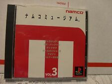 NAMCO MUSEUM VOL.3 (NAMCO) [JAPAN IMPORT] PSX PS1 Disc Case, Manual, and inserts