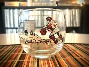 Johnny Bench 1970's Cincinnati Reds MLB Homeplate Restaurant Drinking Glass