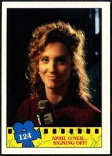 April...#124 Teenage Mutant Ninja Turtles The Movie 1990 Topps Trade Card(C1324)