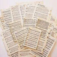 Vintage Sheet Music & Hymnal Pages 50 Pcs for Junk Journals Collage Crafts Art