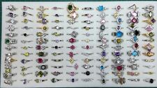 Wholesale Lot Of 20 Assorted Rings Created Gems 18kgp Free Shipping
