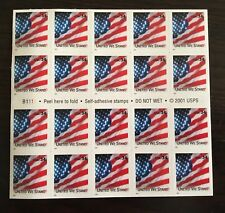 UNITED WE STAND USA FLAG 2001 Block Of 20 34c Stamps
