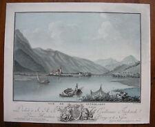 DESCOURTIS / WOLF `SCHWEIZ; INTERLAKEN; LAC DE BRIENZ; SWISS` AQUATINTA, 1785