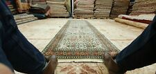 "1940-1959s Vintage Wool Pile Natural Dye High-End Hereke Runner Rug 3'3""×9'8"""
