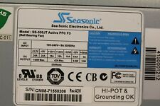 SS-550JT SeaSonic 550W ATX12V EPS12V SLI CrossFire ACTIVE PFC F3 Power Supply