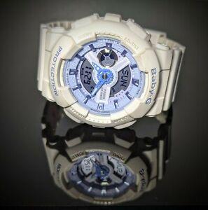 CUTE Casio G-Shock Baby-G Ba-110be White Light Blue Ladies Watch