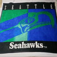 Vintage 90s Seattle Seahawks Biederlack Vintage Soft  Stadium Throw Blanket