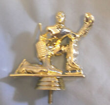 lot of 11 male hockey goalie trophy parts PDU 509-G