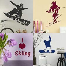 Winter Sport Wall Stickers Home Vinyl Transfer Graphic Ski Decal Decor Snowboard