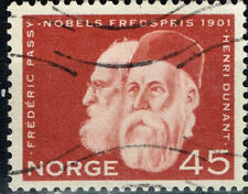 Norway Famous 1901 first Nobel Price Winners Dunant and Passy Red Cross stamp
