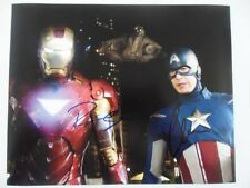 Chris Evans, Robert Downey Jr. 8x10 Photograph Signed Autographed Free Shipping
