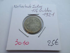 NETHERLANDS INDIES 1/4 GULDEN 1921 - OLD NEDERLAND COIN - REF3010