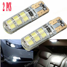2X  T10 194 W5W COB 2835 SMD 12LED Car CANBUS Super Bright License Light Bulb 2W