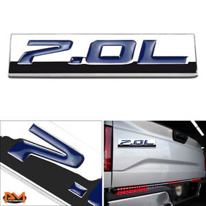 """""""7.0L"""" Polished Metal 3D Decal Blue Emblem Sticker For 06-13 Chevrolet Corvette"""