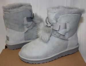 UGG Women's Gita Pom Pom Grey Violet Suede boots New With Box!