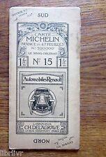 CARTE MICHELIN PREMIERE EDITION  N° 15  Le MAns - Orléans
