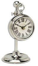 Marchant Cream Nickel Pocket Watch Replica Table Clock by Uttermost #06070