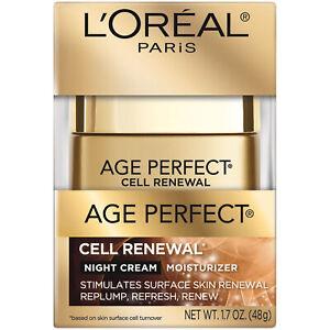 LOreal Paris Skin Care Age Perfect Cell Renewal Night Cream Moisturizer 1.7 oz