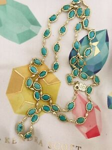 Kendra Scott Gold Turquoise Gale Necklace