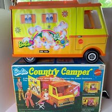 Vintage 1971 Barbie Country Camper Mattel with Sleeping Bags Chairs Original Box