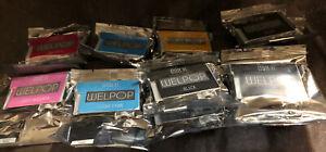 Welpop Ink Cartridges 098XL Lot of 11 New Sealed Black,Yellow Magenta Cyan