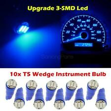 10x Ultra Blue T5 70 73 74 3-SMD LED Dash Light Lamp Bulbs for Chevy