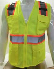 Fx Two Tone High Visibility Reflective Yellow Safety Vest Xsmall 5xl