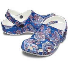 Crocs Classic Vera Bradley Clogs Women Size 8 Paisley Navy # 206323 410