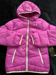 Size S(8) or M(10-12) or XL(16) Youth Girl Under Armour Puffer Jacket Coat