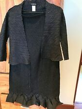 Anthropologie Bebe crinkle maxi skirt and tie top black m nwot