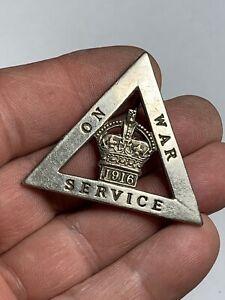 1916 On War Service WWI TRIANGULAR Badge no 256557
