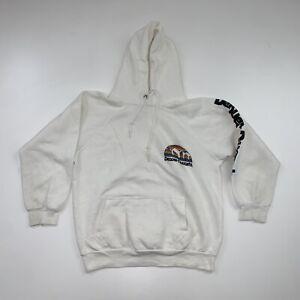 Vintage 80s Denver Nuggets Hoodie Sweatshirt Size Small White NBA Basketball
