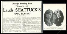 1918 Arthur Shattuck photo with Charles W Clark vintage trade print ad