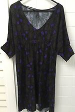 MNG Size XS (10-12) Purple Floral Business Casual Dress EUC