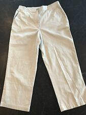 Women's Lands End Light Stone Capris Elastic Waist Size 8 New with Tags